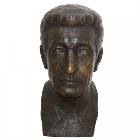 Bronisław Koniuszy (1917 Polichty/Brzozowa – 1986 Warszawa) Głowa rzymianina, 1984