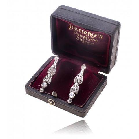 Kolczyki z diamentami wykonane w złocie 0.750 i platynie