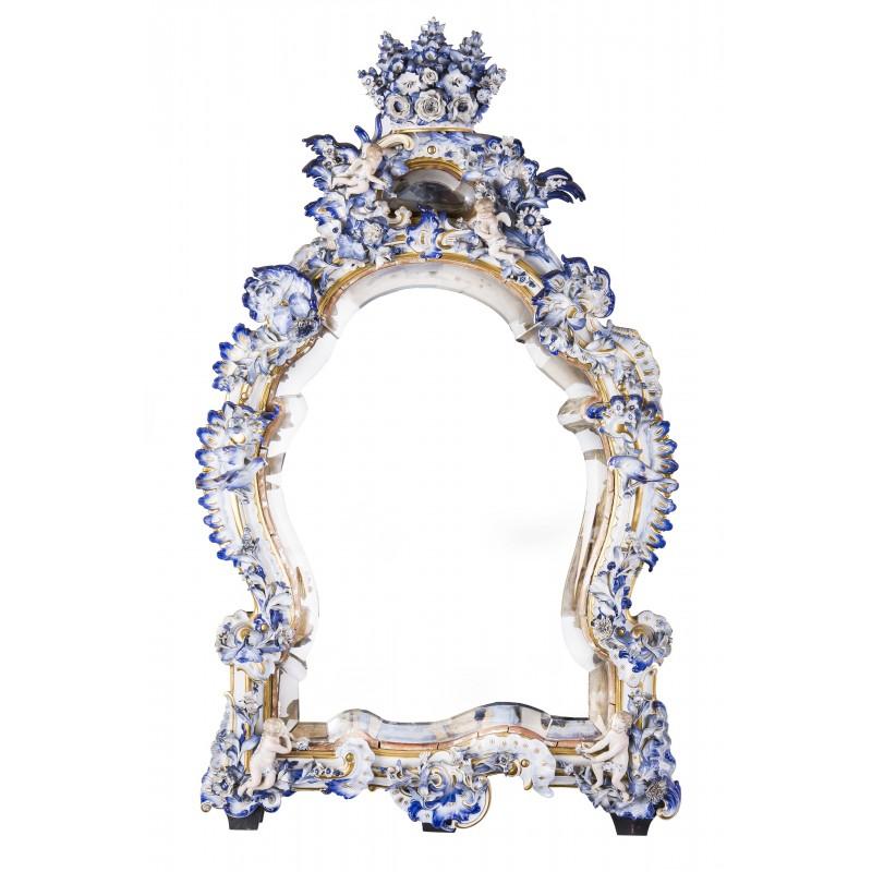 Lustro kryształowe w stylu barokowym, Niemcy, praca autorska – przełom XVIII i XIX wieku