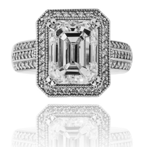 259B. Designerski pierścionek z lupowo czystym diamentem ~5.00ct