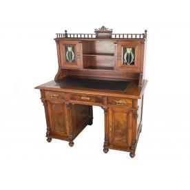 Biurko eklektyczne z witrażami, II poł. XIX wieku