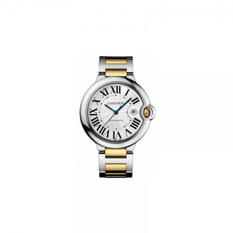 CARTIER BALLON BLEU BIG 42MM STAL ZLOTO 18K