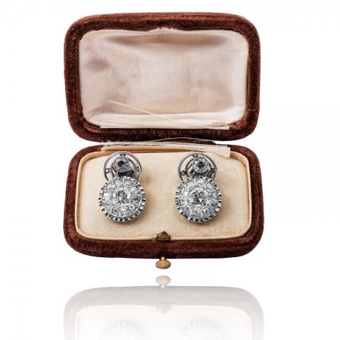 Kolczyki z diamentami ~3.90ct