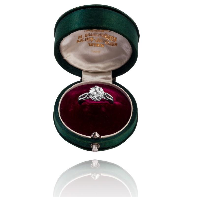 Pierścionek z diamentem ~1.69ct