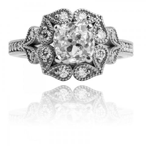 Pierścionek z diamentami ~1.70ct
