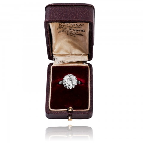 Pierścionek z diamentem ~3.78ct
