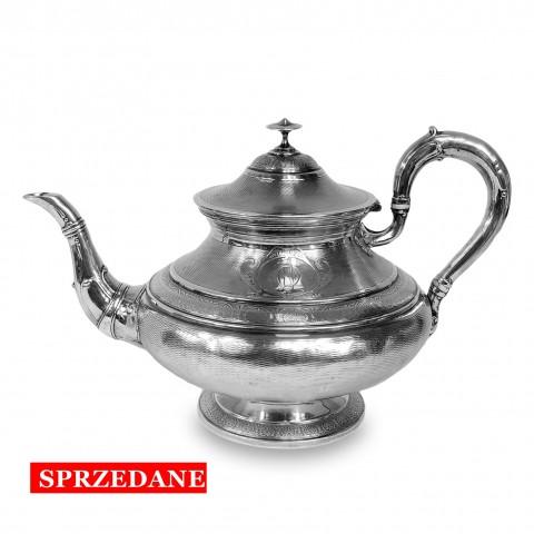 416. Imbryk do herbaty srebrny, Debain & Flament, Francja, 1874 – 1880