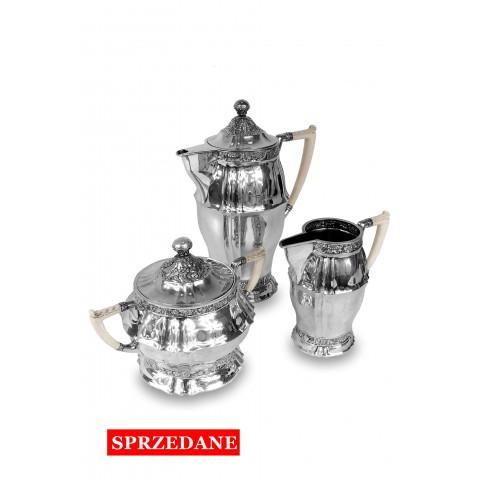 453. Zastawa srebrna, Czechy, l. 20. XX w.