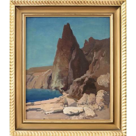 120. Iwan Trusz (1869-1941), Skaliste wybrzeże nad Morzem Martwym