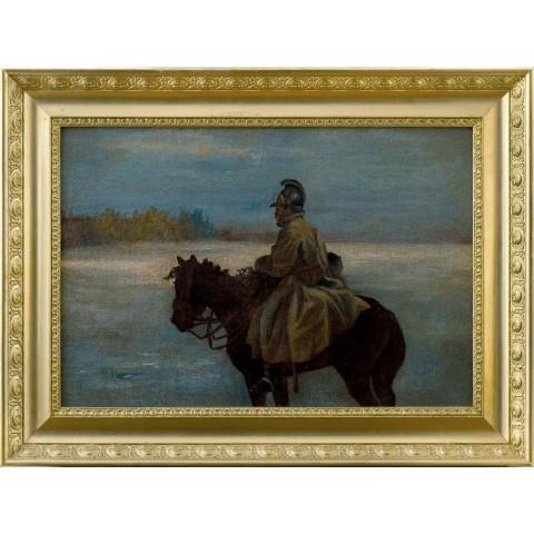 143. Malarz nieokreślony, XX w., Żołnierz na koniu