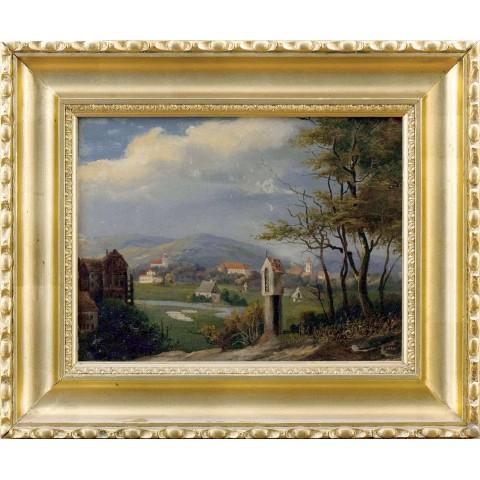 144. Artysta nieokreślony, XIX w., Pejzaż