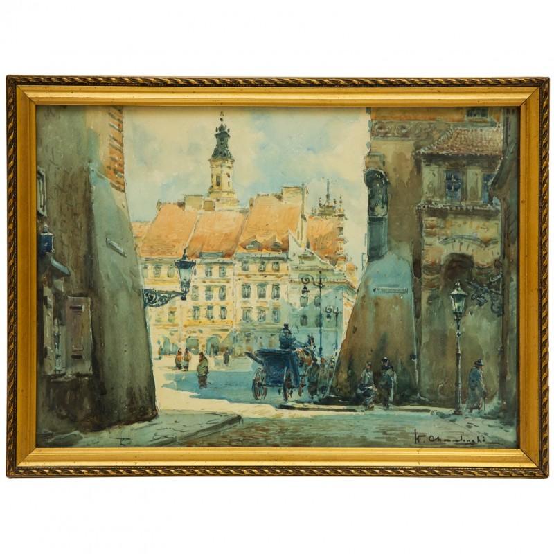 203. Władysław Chmieliński (1911 – 1979), Rynek Starego Miasta w Warszawie