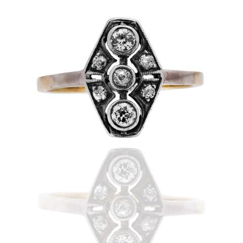 Dawny pierścionek z diamentami, Niemcy, lata 30. XX w.