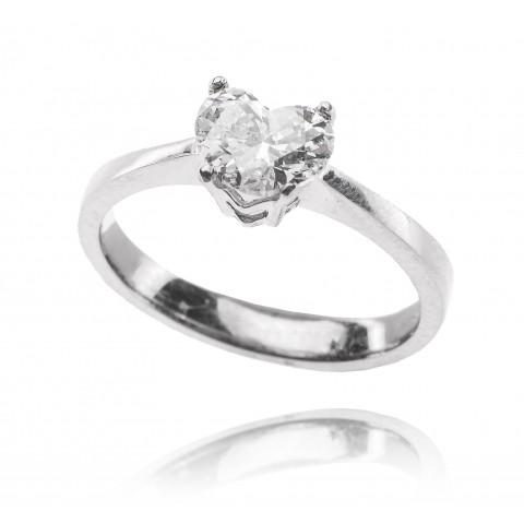 Pierścionek z diamentem 1,00ct w formie serca