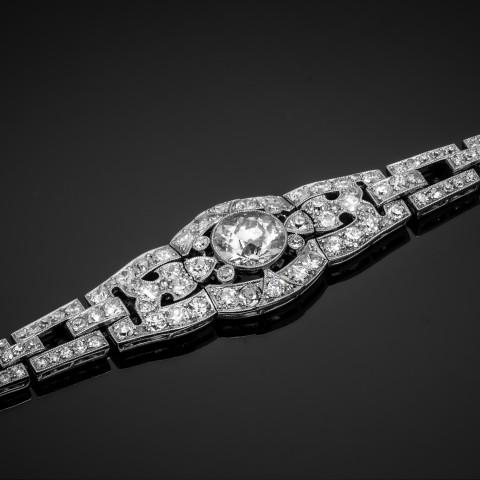 Dawna bransoletka z diamentami ok. 3.82ct