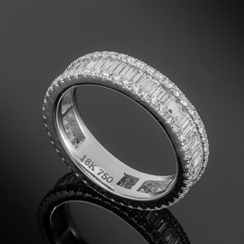 Obrączka z diamentami ok. 2.01ct wykonana z białego złota