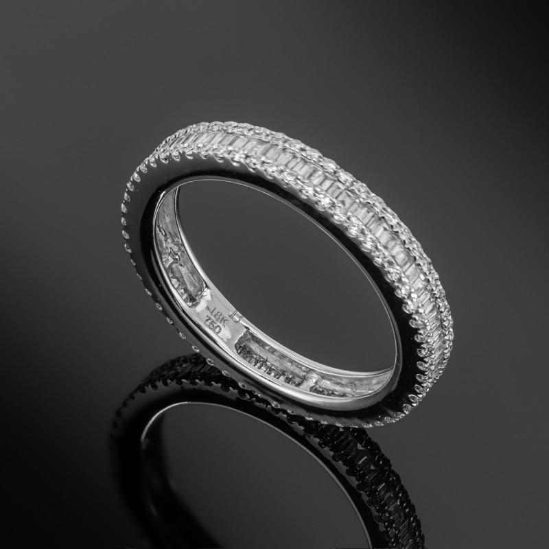 Obrączka z diamentami ok. 0.65ct wykonana z białego złota