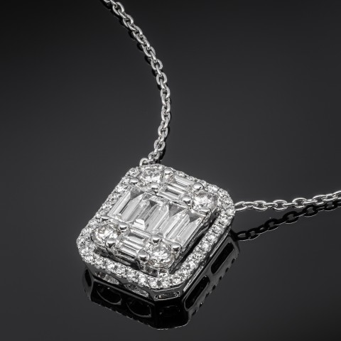 Naszyjnik z diamentami ok. 0.82ct