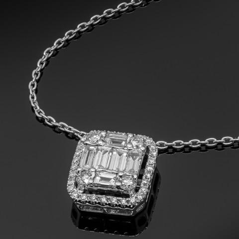 Naszyjnik z diamentami ok. 0.62ct