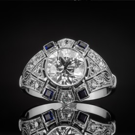 Platynowy pierścionek z diamentem ok. 1.79ct