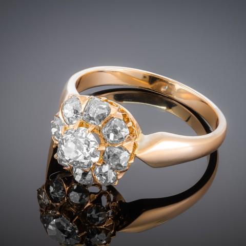 Dawny pierścionek z diamentami ok. 1.40ct