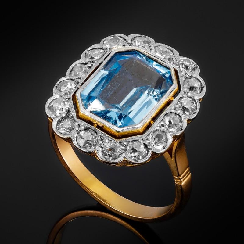 Dawny pierścionek z diamentami ok. 0.90ct