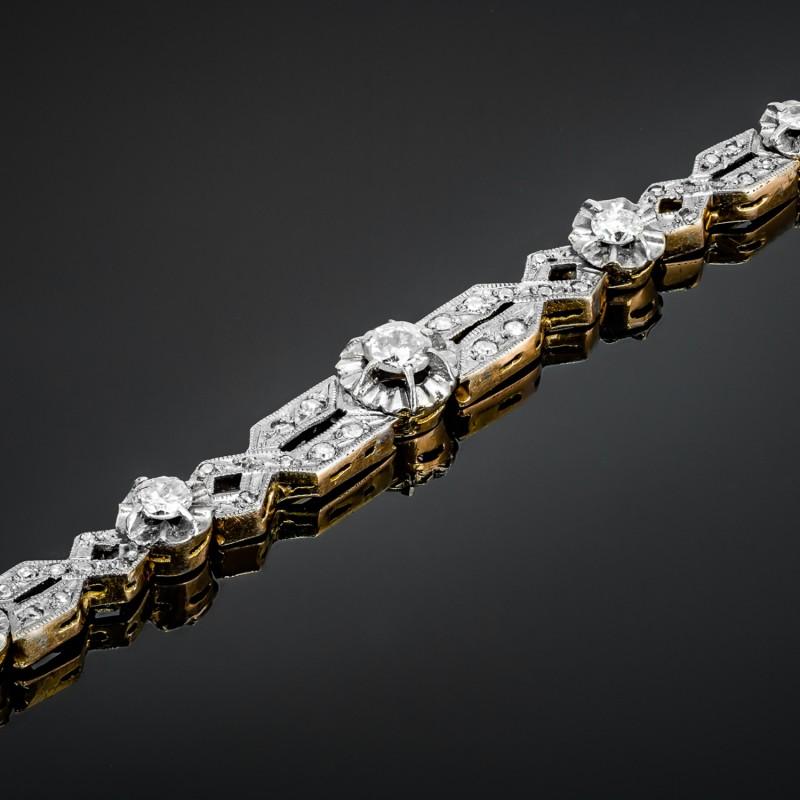 Dawna bransoletka z diamentami ok. 0.70ct