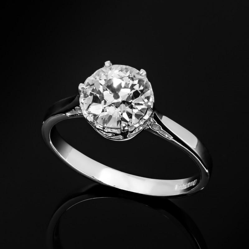 Pierścionek z diamentem o masie około 1.53ct