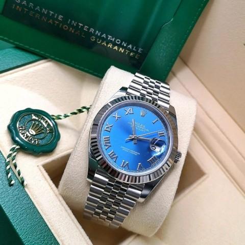 NOWY Rolex Datejust z niebieską tarczą// 2021