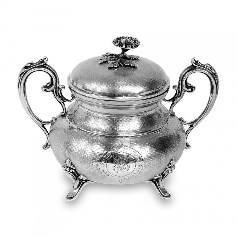 406. Cukiernica srebrna, Pierre Queille, Francja (Paryż), 2 ćw. XIX w.