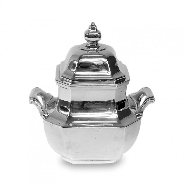 408. Cukiernica srebrna, Art Deco, Tetard Freres, Francja (Paryż), pocz. XX w.