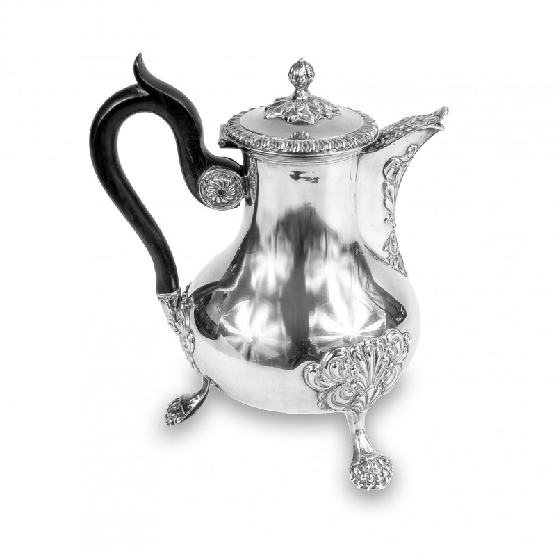 414. Dzban do kawy srebrny, Martial Fray, Francja (Paryż), 1849 – 1861