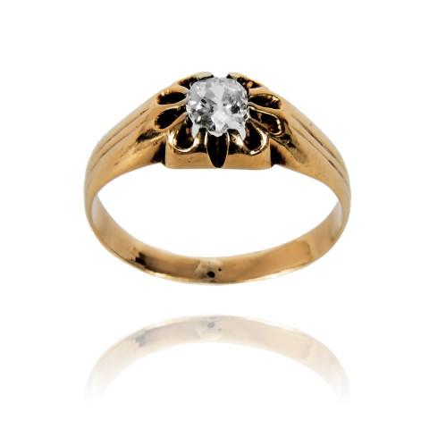 Pierścionek z diamentem ~0,38ct wykonany ze złota
