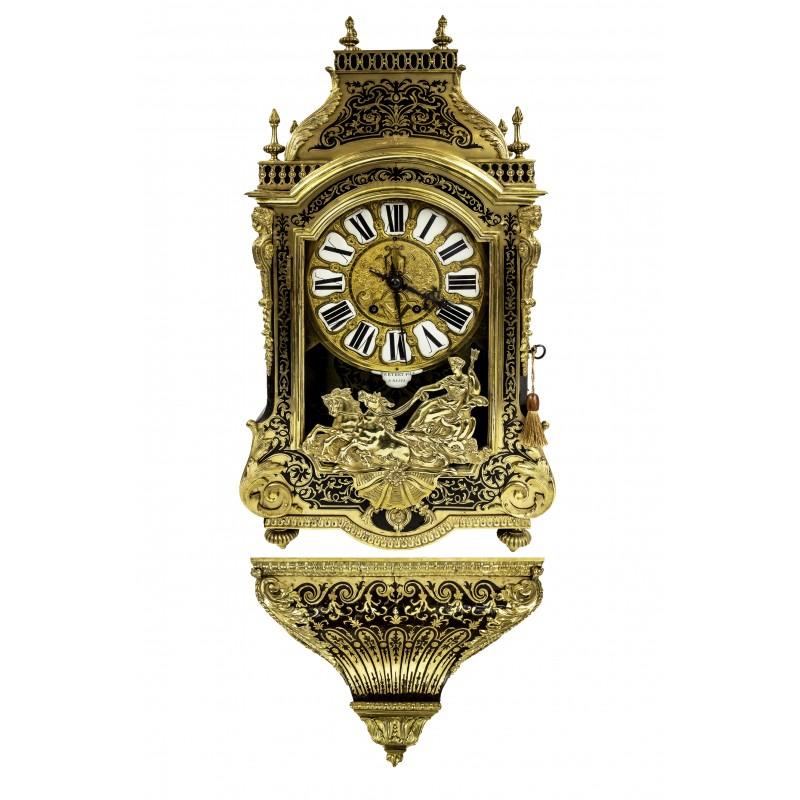 506. Zegar konsolowy w typie Boulle'a, Francja, ok. 1880
